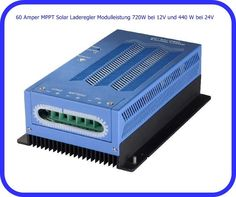 60 Amper MPPT Solar Laderegler Modulleistung 720W bei 12V und 440 W bei 24V 2588