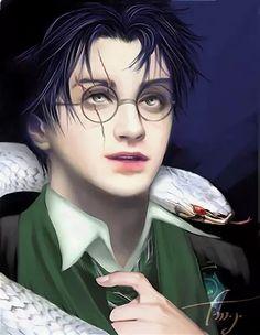 Harry Potter Voldemort, Harry James Potter, Harry Potter Anime, Arte Do Harry Potter, Harry Potter Artwork, Harry Potter Drawings, Harry Potter Pictures, Harry Potter Universal, Harry Potter Fandom