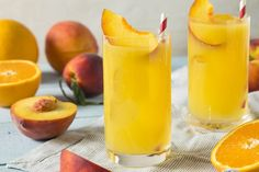 Refreshing Peach and Orange Fuzzy Navel Cocktail with a Garnish Stock Photo , Fuzzy Navel, Drunk Driving, Peach Trees, Wine And Spirits, Cantaloupe, Drinking, Beverages, This Or That Questions, Champagne
