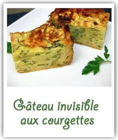 Gâteau invisible courgettes, safran et parmesan Veggie Recipes, Diet Recipes, Vegetarian Recipes, Eat Better, Good Food, Yummy Food, Easy Cooking, Healthy Dinner Recipes, Food Inspiration