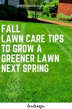 Secret Diy Tips To Get A Greener Lawn Fall Lawn Care Green Lawn