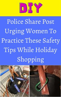 Police Share Post Urging Women To Practice These Safety Tips While Holiday Shopping Diy Crafts For Girls, Diy Crafts For Home Decor, Diy Arts And Crafts, Hacks Diy, Food Hacks, Herb Garden Pallet, Diy Barbie Clothes, Diy Bags, Amazing Facts
