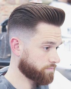 Pompadour Hairstyle that Every Man Must Try In 2019 28 top Pompadour Haircuts for Men 2019 Trends Mens Hairstyles With Beard, Cool Mens Haircuts, Cool Hairstyles For Men, Long Face Hairstyles, Popular Haircuts, Men's Haircuts, Medium Hairstyles, Wedding Hairstyles, Amazing Hairstyles