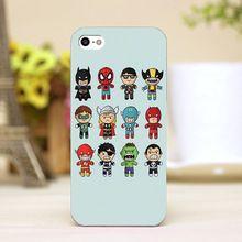 Pz0068-47 mignon de bande dessinée pour marvel heros conception des personnages téléphone transparent cas de couverture pour iphone 4 5 5c 5S 6 6 plus dur Shell(China (Mainland))
