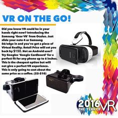 """An awesome Virtual Reality pic! 2016 - """"The Year Of VR""""  We take a look at the company's bringing Virtually Reality a Reality in 2016  Tags 
