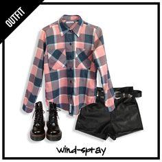 ⚡⚡ #LiveToRock #AW17 ⚡⚡  #OUTFIT #TENDENCIA #FridayLook  - Camisa Francesca Escocesa Pink - Short Skater Simil Cuero Black - Borcegos Charol - Cinto Texano  🔥🔥🔥