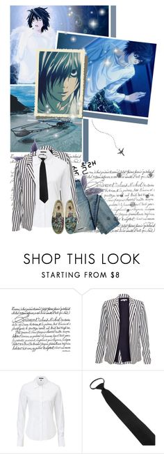 """""""Death Note """"L"""""""" by nickianna ❤ liked on Polyvore featuring Glamorous, Theory and death note"""