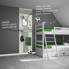 Voetbal muursticker paneel - voetbalkamer idee
