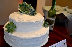 hens and chicks on a cake?! <3