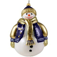 Joy to the World Collectibles 'Collegiate' Snowman Ornament