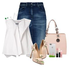 """""""~ Spring Ready. :) ~"""" by rashana ❤ liked on Polyvore featuring MICHAEL Michael Kors, Armani Jeans, Giambattista Valli, Issey Miyake, Casetify, MAC Cosmetics, Spring, peach, Flowers and simpleset"""