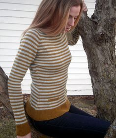 Honey is a top-down raglan that's knit in the round – miles of stockinette with easy shaping, stripes and pockets to keep you on your toes…
