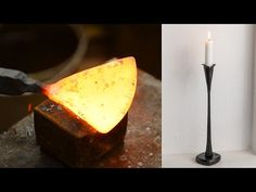 Blacksmithing - Forging a candlestick - YouTube
