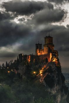 Fortress of Guaita, San Marino. Guaita is one of three peaks which overlooks the city of San Marino, the capital of San Marino. The Guaita fortress is the oldest of the three towers constructed on Monte Titano. It was built in the century. Beautiful Castles, Beautiful Buildings, Beautiful World, Beautiful Places, Amazing Places, Beautiful Pictures, Places To Travel, Places To See, Travel Destinations