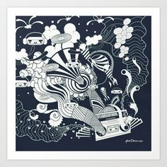 MUSIC Art Print by Piktorama - $20.00