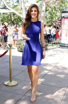 Maria Menounos on the set of 'Extra' at The Grove Cocktail Bridesmaid Dresses, Long Cocktail Dress, Homecoming Dresses, Cocktail Dresses, Maria Menounos, Cheap Dresses, Sexy Dresses, Beautiful Dresses, Latest Fashion Dresses