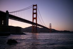 San Francisco at sunset and the Golden Gate Bridge - stunning!