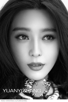 Fan BingBing Photography by & Beautiful Asian Women, Beautiful Eyes, Beautiful People, Pure Beauty, Beauty Women, Fan Image, Fan Bingbing, Photo Portrait, Black And White Portraits