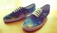 Cosmic Shoes! Take a blue pair and get crazy with some bleach/glitter fabric glue!