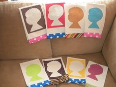 Colorful Silhouette Tea Towels  (Grandparent gift idea)  by dollarstorecrafts.com