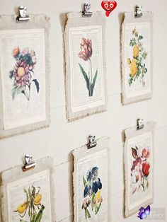 Unexpected Ways to Decorate with Vintage Artwork  <br> Say good-bye to bare walls. With the help of pretty posters, world maps, fabulous botanical prints, and more, you can display vintage wall art in every room. Vintage Artwork, Vintage Wall Art, Vintage Walls, Vintage Diy, Vintage Decor, Vintage Room, Bedroom Vintage, Vintage Ideas, Vintage Crafts
