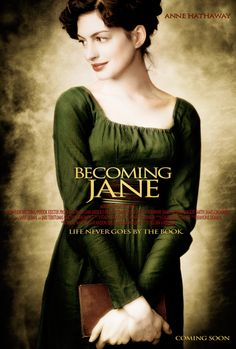 Movie Poster - Life never goes by the book. - Becoming Jane directed by Julian Jarrold (2007) #janeausten