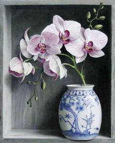 Oil Painting Flowers, Watercolor Flowers, Watercolor Paintings, Flower Vases, Flower Art, Flower Arrangements, Art Floral, Afrique Art, Still Life Flowers