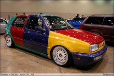 Harlequin VW Golf -I want one of these, please.