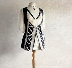 Navy Blue Underbust Vest Renaissance Style by BrokenGhostClothing, $68.00