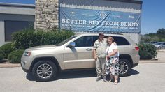 """GLENDA, wishing you many """"Miles of Smiles"""" in your 2014 Jeep Grand Cherokee!  All the best, Benny Boyd Motor Company - Marble Falls and KIT WILLIAMS."""