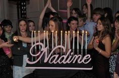 Name With Flames Candle Lighting No Cake...this is the candle lighting ceremony