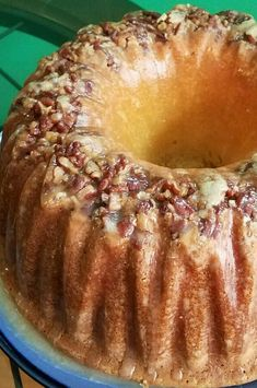 Pecan Pound Cake Recipe, Pound Cake Recipes, Easy Cake Recipes, Baking Recipes, Delicious Cake Recipes, Dessert Cake Recipes, Just Desserts, Sour Cream Pound Cake, Bunt Cakes