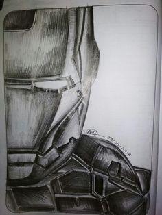 Iron Man's pencil sketch by Aditya Singh