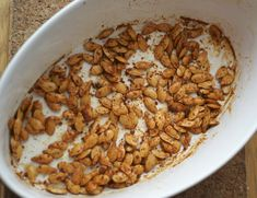 Spicy Roasted Seeds--great way to use leftover pumpkin or squash seeds! #grainfree @rickiheller