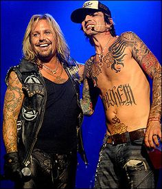 Vince Neil & Tommy Lee of Motley Crue