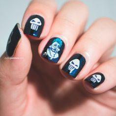 31DC2014: Day 05 | Blue Nails Petite Peinture #hades #hercules #disney #nailart #freehand #skulls #blue #sephoranailspotting #chinaglaze #ilnp #31DC2014 @ilnpbrand