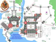 Map of the Hogwarts Campus!   This map isn't shown on the website, but if you email the creator and request it, he'll email you the file.