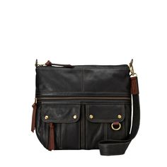 I have this purse and absolutely love it!  Fossil Morgan NS Top Zip
