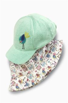 Two Pack Character Cap And Fisherman Hats (3mths-6yrs)