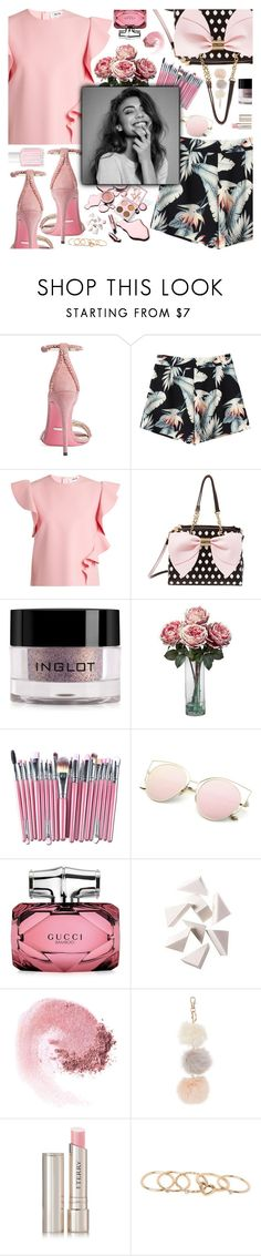 """""""It's not about being the best. It's about being better than you were yesterday."""" by perfectharry ❤ liked on Polyvore featuring Gucci, MSGM, Betsey Johnson, Inglot, Nearly Natural, GET LOST, Bobbi Brown Cosmetics, NARS Cosmetics, By Terry and With Love From CA"""
