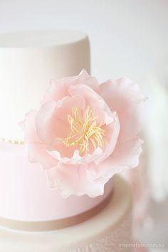 First Holy Communion Dessert Table Bhldn Wedding, Wedding Events, Weddings, Pretty Cakes, Beautiful Cakes, First Holy Communion Cake, Pink Parties, Girl Cakes, Sugar Flowers