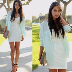 I am going to rock this look, this summer! <3 white dresses!