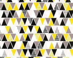 'Triangles' from the 'iHaus' collection by Michelle Engel Bencsko for Cloud9 Fabrics