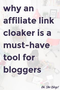 Blogging Tips: An affiliate link cloaker will make it much easier to keep track of all of your affiliate links. via @ohsheblogs