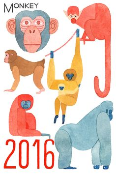 Monkey Illustration, Children's Book Illustration, Animal Paintings, Animal Drawings, Goth Wallpaper, Psychedelic Drawings, Monkey Art, Year Of The Monkey, Guache