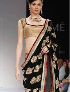 Shyamal and Bhumika saree presented by Simran Kaur.  Lakme Fashion Week spring/summer 2010    designer saree