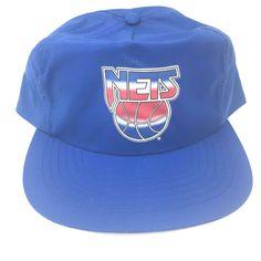 b510625e183 New Jersey Nets Vintage Basketball NBA blue nylon Snapback HAT CAP Brooklyn   BrooklynNets  BrooklynNets