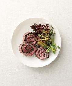 Spinach-Stuffed Steak Roulades recipe from RealSimple.com #myplate #protein