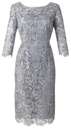 Silver Dress Joanna Hope Lace Dress Wedding Pins Groom Dress