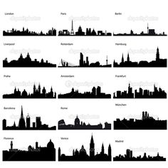 Rome City Skyline Silhouette